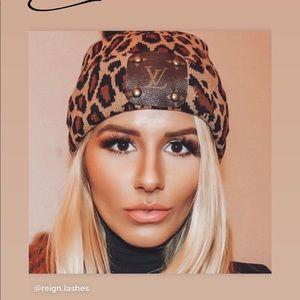 Vintage boho bags cheetah hat with Lv logo